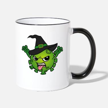 Party Halloween 2020 Corona Virus Witch Hexen Böse Hexe - Tasse zweifarbig