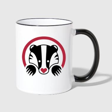 A Heart for Badgers - Contrasting Mug