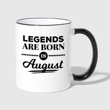 legends are born in august birthday saying - Contrasting Mug