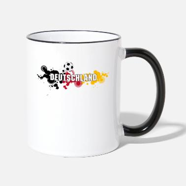 Fan Mile Germany Black Red Gold Football Fan Mile Ball - Two-Tone Mug