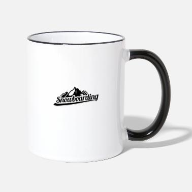 Cold Snowboarding - Two-Tone Mug
