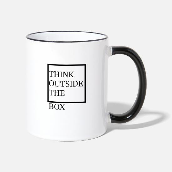 Box Tazze & Accessori - think outside the box - Tazza bicolor bianco/nero