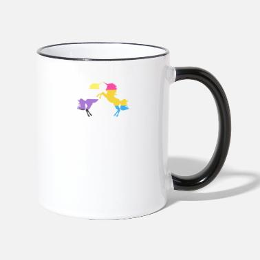 Gay Pulse Unicorno gay - Tazza bicolor