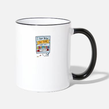 Sarcasme drôle école coquine Witty Sayings - Mug bicolore