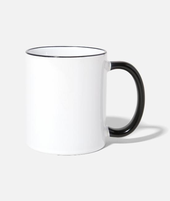 Pain Mugs & Drinkware - Never give up only pull up - premium design - Two-Tone Mug white/black