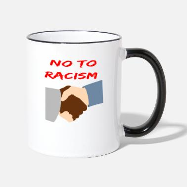 Anti Racism Anti-racism Anti Against Racism Nazis Right - Contrasting Mug