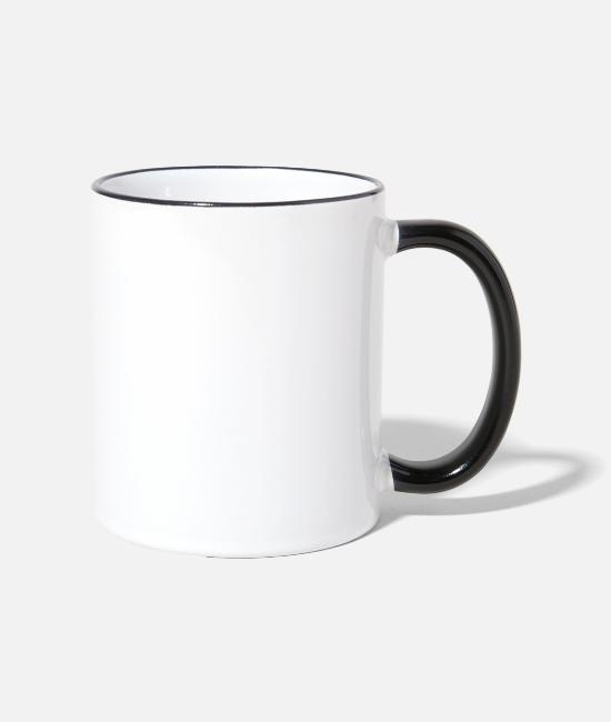 Racing Machine Mugs & Drinkware - Wife. Mom. Biker. Chopper Motocross Enduro Stunt - Two-Tone Mug white/black