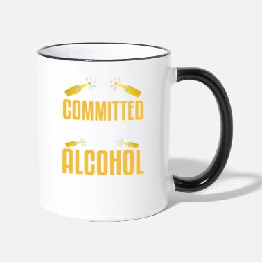 Relationship I'm in a committed relationship with alcohol - Two-Tone Mug