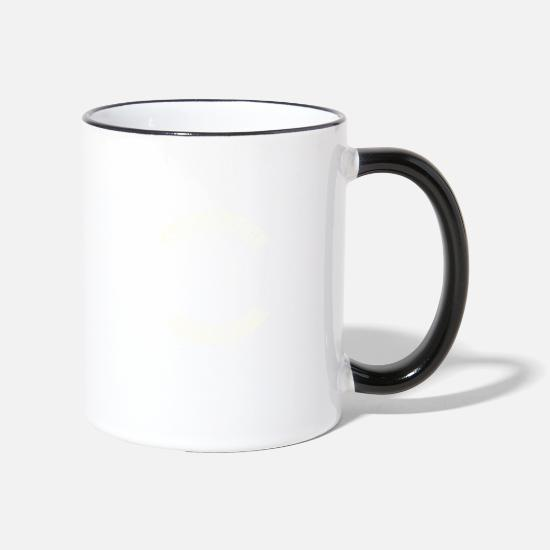 Biker Mugs & Drinkware - Motorcyclist Racing Machine Gift · Oblique - Two-Tone Mug white/black