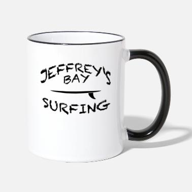 South Surfing Hotspot at Jeffrey's Bay in South Africa - Two-Tone Mug