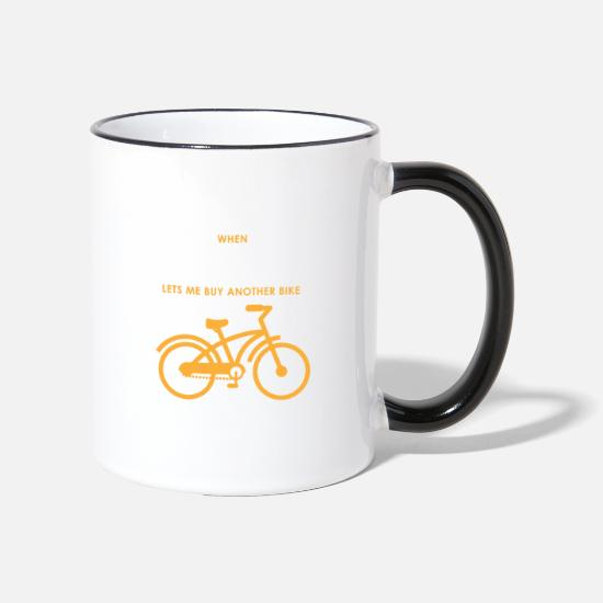 Cyclist Mugs & Drinkware - Love My Wife Funny Cycling Gift Cycling Novelty - Two-Tone Mug white/black