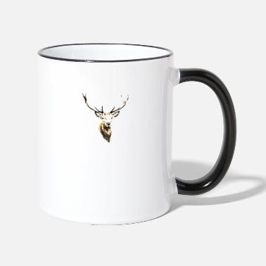 deer head - Two-Tone Mug