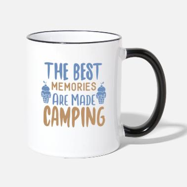 Abenteuer The Best Memories Are Made Camping - Tasse zweifarbig