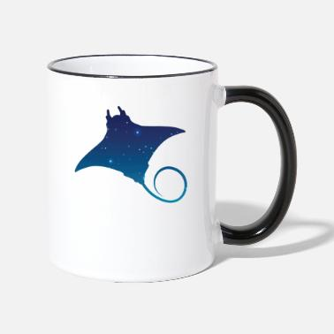 Planet Space flying squirrel - Two-Tone Mug