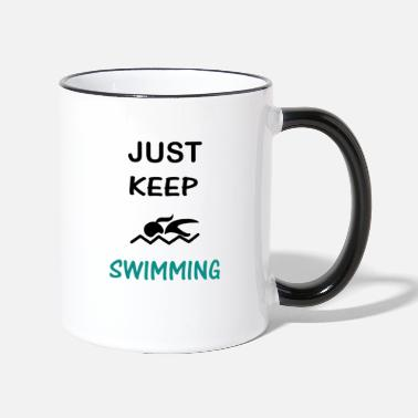 Sports Swimming Swim Swimmer Gift - Two-Tone Mug