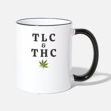 Tlc 420 Pot Leaf Graphic / Marihuana Plant Saying / - Contrast krus