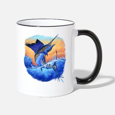 Sport Fishermen Marlin Sport Fishing Fishermen Gift - Two-Tone Mug