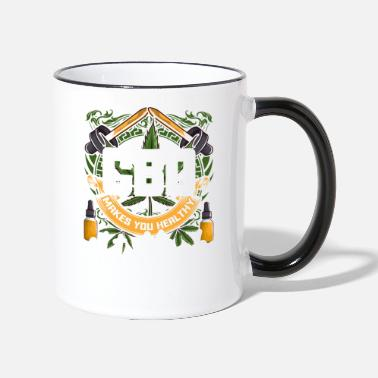 Cbd Oil CBD Oil Healthy Not High - Two-Tone Mug