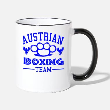 Fist Austria boxing match brass knuckles fighting martial arts - Two-Tone Mug