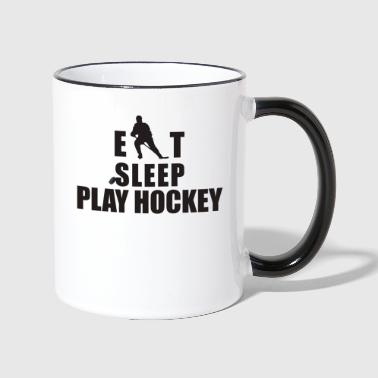 Hockey Eat Sleep Play Hockey - Tvåfärgad mugg
