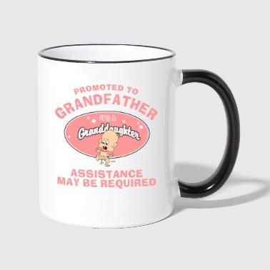 Promoted To Grandfather Granddaughter - Contrasting Mug