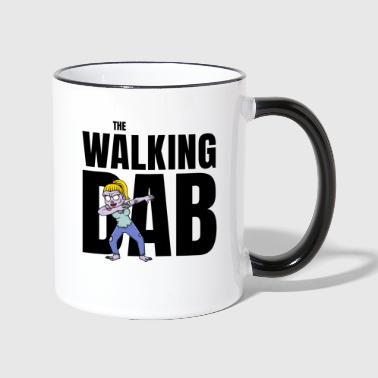 The Walking DAB Zombie Girl Dabbing Halloween sw - Tasse zweifarbig