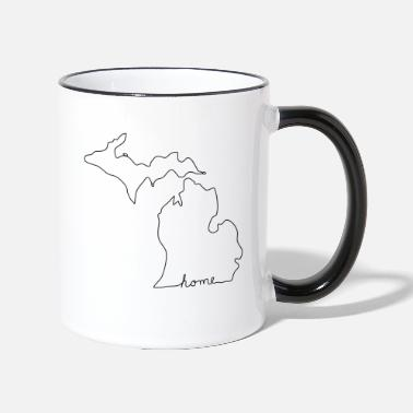 Michigan MICHIGAN Home - Tasse zweifarbig