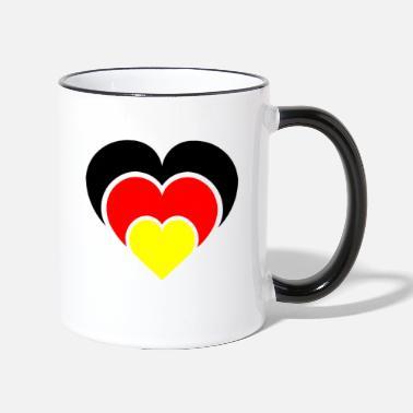 National Team A heart for the national teams - Two-Tone Mug