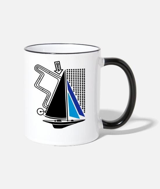 Water Mugs & Drinkware - technical sailing yacht no.1 the standard - Two-Tone Mug white/black