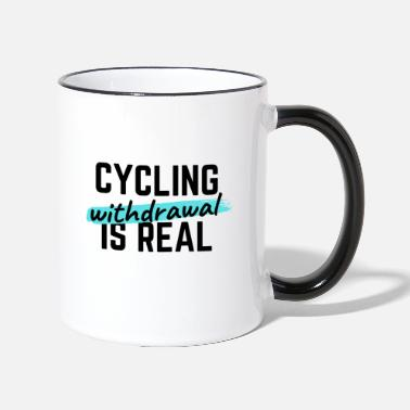Teenager Cycling: Thank you for existing. - Two-Tone Mug