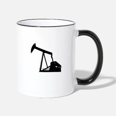 A factory looking for oil - Two-Tone Mug