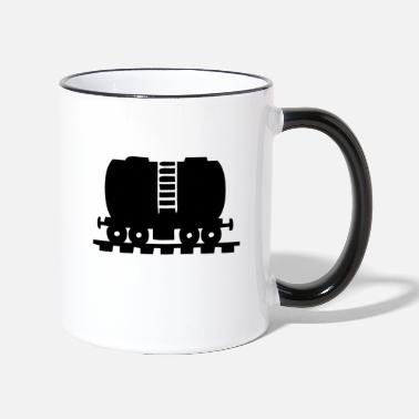 Plein Dessence Un train plein d'essence - Mug bicolore