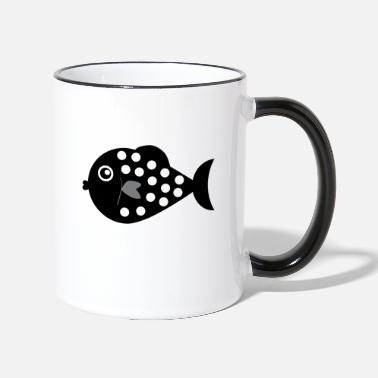 Coastal grass fish - Two-Tone Mug