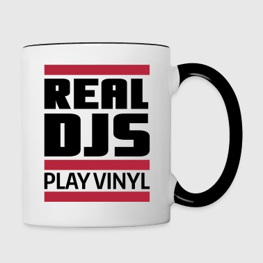 real DJ play vinyl Schallplatte Club turntables - Mug contrasté