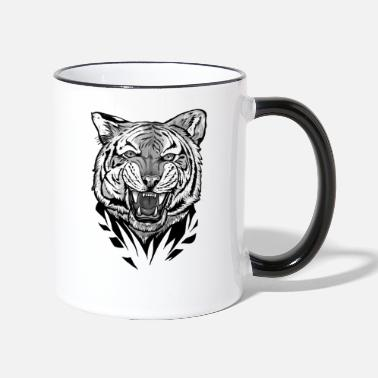 Black tiger predator - Two-Tone Mug