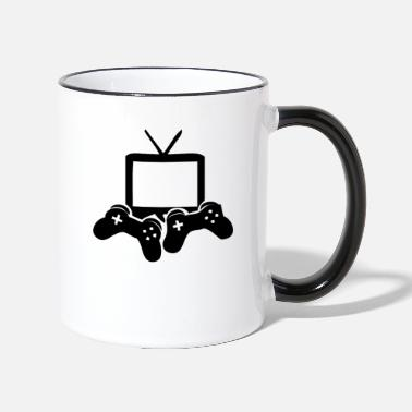 Console Video Games icon games Gamer gaming console - Two-Tone Mug