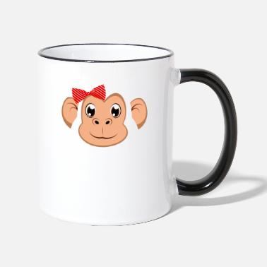 Easy Floral Monkey Animal Halloween Costume Gift - Two-Tone Mug