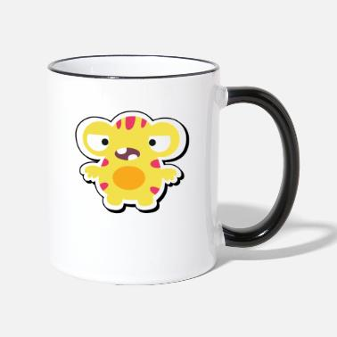Stiffen Yellow monster red stiffen white - Two-Tone Mug