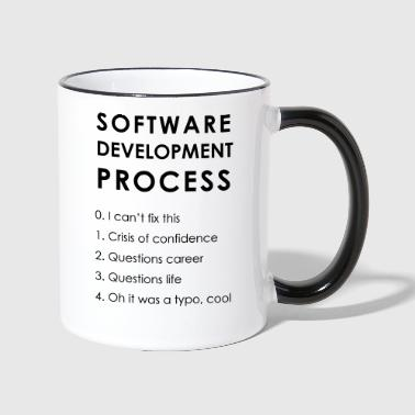 Software Development Process - Tasse zweifarbig