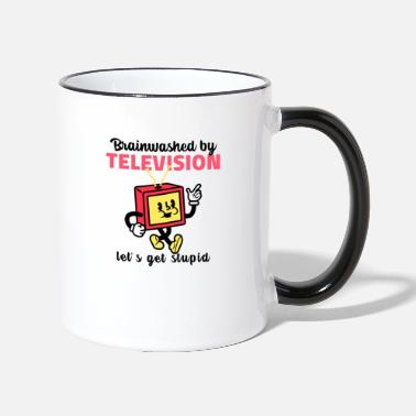 Picture TELEVISION FUNNY PICTURES - Mug bicolore