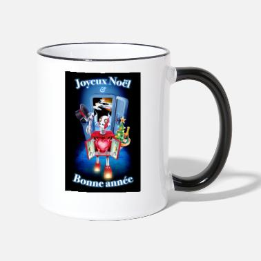 Merry Christmas and Happy New Year Robot! - Two-Tone Mug