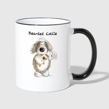 Collie Bearded Collie mit Teddy - Tasse zweifarbig
