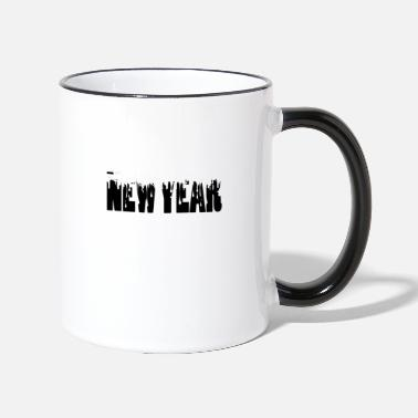 Nouvel An nouvel an, nouvel an, nouvel an, sylvester - Mug bicolore