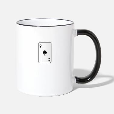 Ace Of Spades Ace of spades playing card - Two-Tone Mug