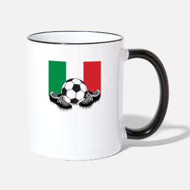 Football FOOTBALL ITALY SOCCER ITALIAN FLAG - Two-Tone Mug