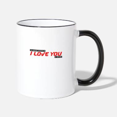 Cupid I was looking for how to tell you I love you couple - Two-Tone Mug