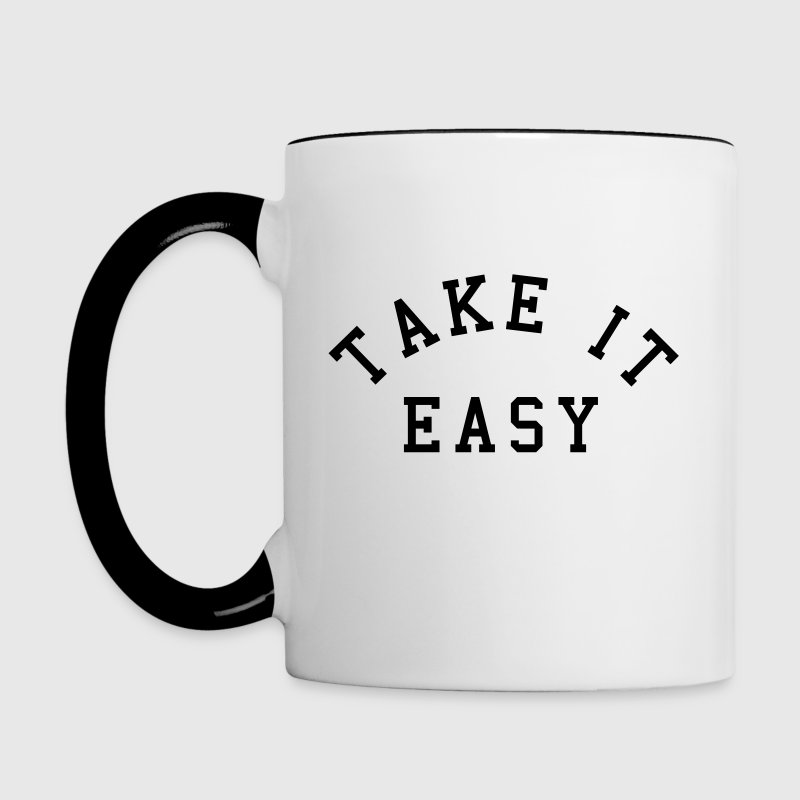 Take It Easy - Tasse zweifarbig