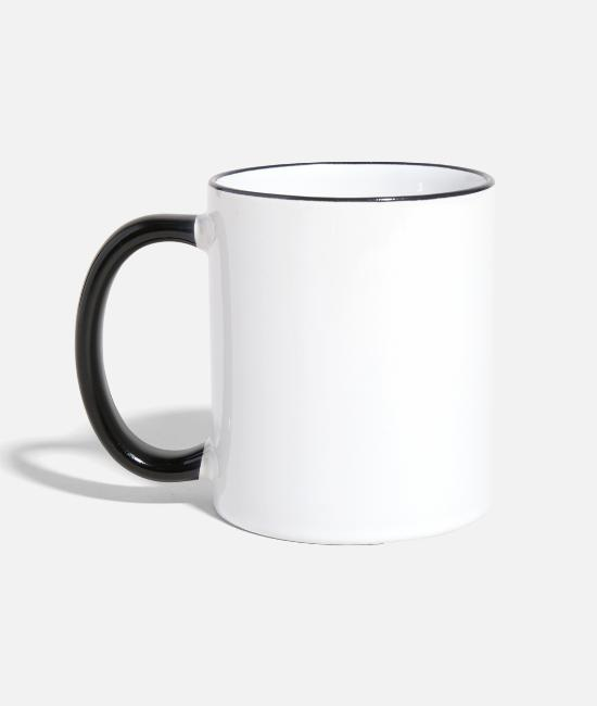 Apparel Mugs & Drinkware - Keep Calm Chin Up Heels Down Horseback Riding - Two-Tone Mug white/black