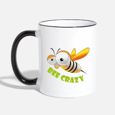 Bee crazy - Two-Tone Mug