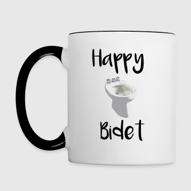 happy bidet, anniversaires happy birthday - Mug contrasté